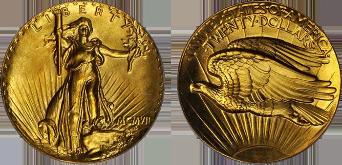 Augustus-Saint-Gaudens-1907-UHR-double-eagle-o-r-StacksBowers