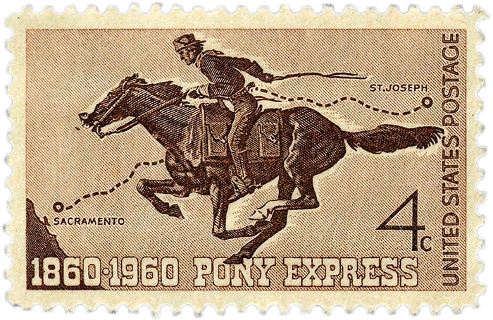Pony_Express_centennial_stamp_4c_1960_issue