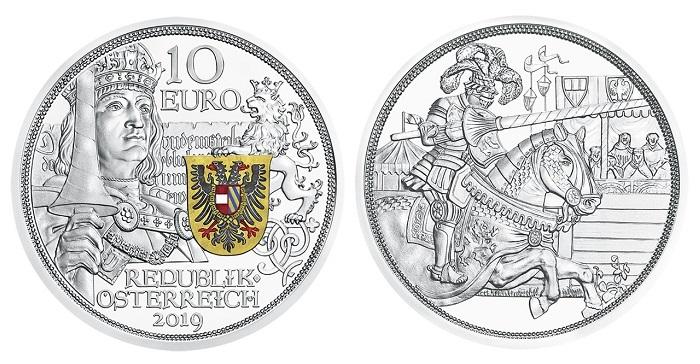 Austria-2019-Knights-tale-Maximilian-I-€10-proof-pair-header