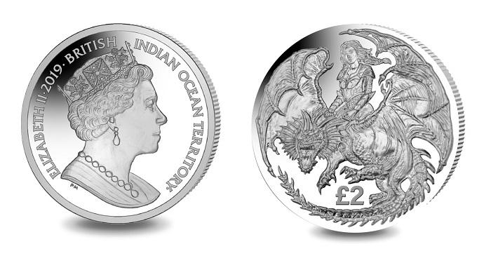 British Indian Ocean Territory CuNi Copper Nickel UNC Coin 2018 MANTA RAY