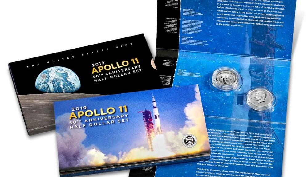 Apollo 11 proof half dollar set   Coin News
