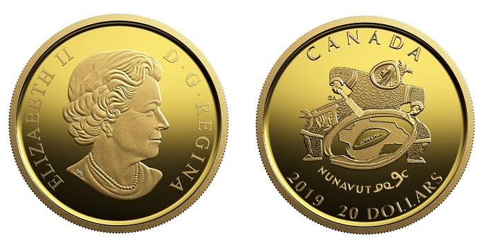 RCM Security Test Token 2Pieces CARIBOU 2018 Quarter 25Cent Silver Coin Canada