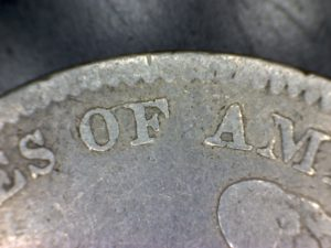 1834-Capped-Bust-O-over-F-no-period-after-25C-close-up-rev-300x225
