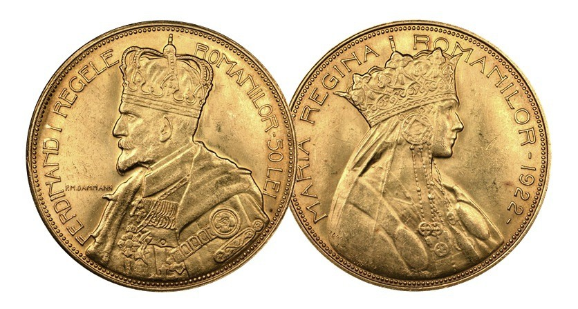 ferdinand-I-coronation-gold-coin-pair-new