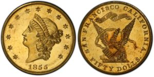 1855-Kellogg-50-PCGS-PR64-Cameo-300x151
